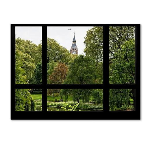 "Trademark Fine Art ''Window View St James's Park 1'' by Philippe Hugonnard 35"" x 47"" Canvas Art (PH0016-C3547GG)"