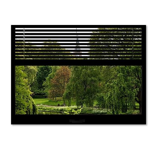 "Trademark Fine Art ''Window View St James's Park 2'' by Philippe Hugonnard 24"" x 32"" Canvas Art (PH0017-C2432GG)"