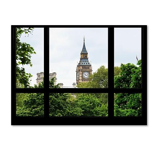 "Trademark Fine Art ''Window View Big Ben 2'' by Philippe Hugonnard 35"" x 47"" Canvas Art (PH0024-C3547GG)"
