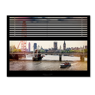 Trademark Fine Art ''Window View River Thames 1'' by Philippe Hugonnard 24