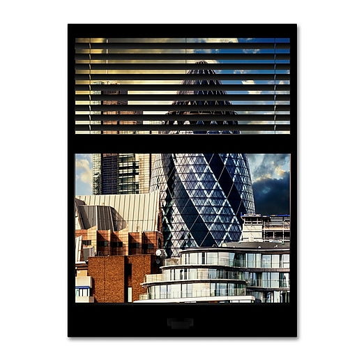 "Trademark Fine Art ''Window View The Gherkin 1'' by Philippe Hugonnard 24"" x 32"" Canvas Art (PH0031-C2432GG)"