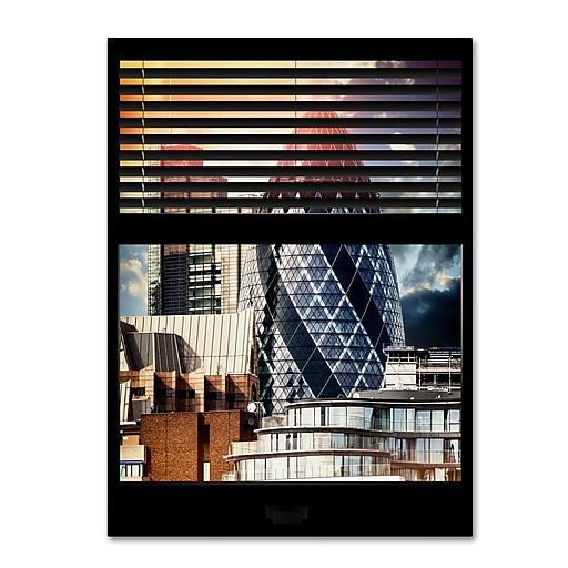 "Trademark Fine Art ''Window View The Gherkin 2'' by Philippe Hugonnard 24"" x 32"" Canvas Art (PH0032-C2432GG)"