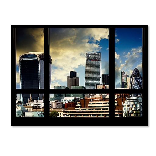 "Trademark Fine Art ''Window View UK Buildings 2'' by Philippe Hugonnard 35"" x 47"" Canvas Art (PH0034-C3547GG)"