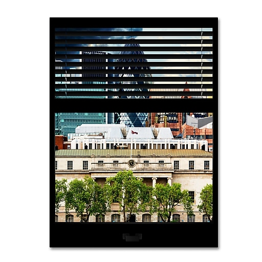 "Trademark Fine Art ''Window View UK Buildings 3'' by Philippe Hugonnard 24"" x 32"" Canvas Art (PH0035-C2432GG)"