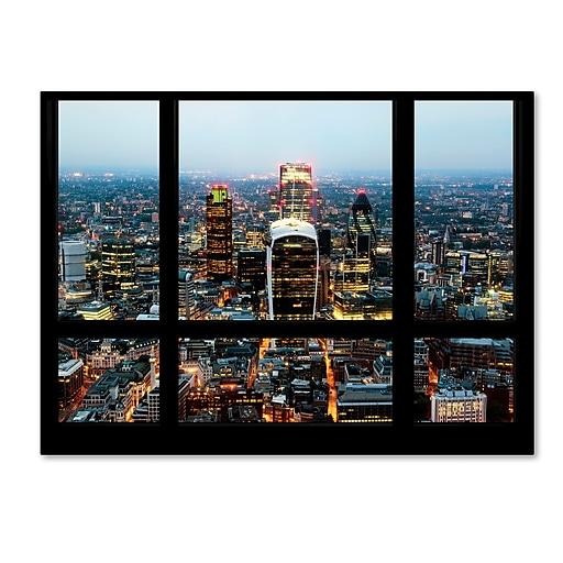 "Trademark Fine Art ''Window View London City 2'' by Philippe Hugonnard 35"" x 47"" Canvas Art (PH0045-C3547GG)"