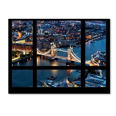 Trademark Fine Art ''Window View London Bridge 2'' by Philippe Hugonnard 35