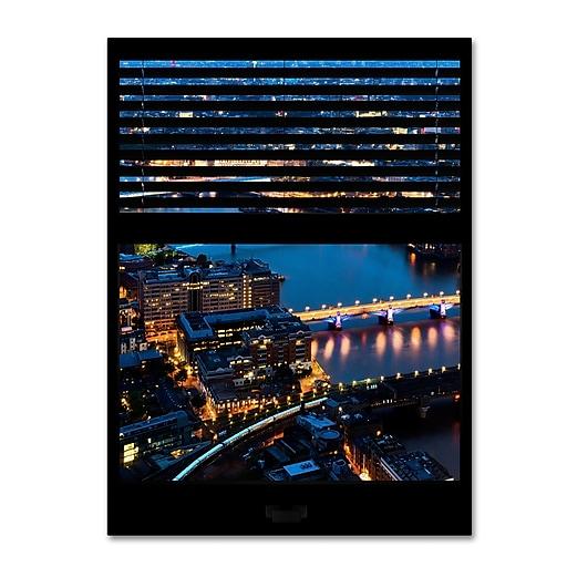 "Trademark Fine Art ''Window View London by Night 10'' by Philippe Hugonnard 24"" x 32"" Canvas Art (PH0053-C2432GG)"