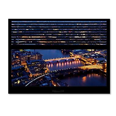 Trademark Fine Art ''Window View London by Night 12'' by Philippe Hugonnard 24