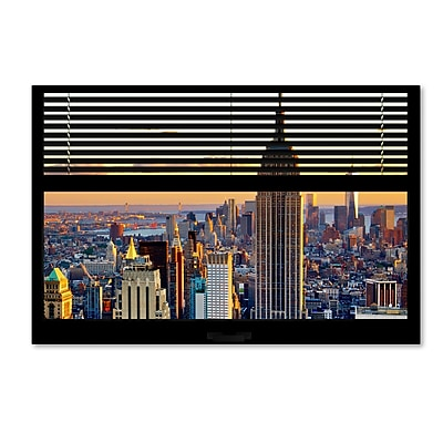 Trademark Fine Art ''Window View NYC Sunset 3'' by Philippe Hugonnard 22