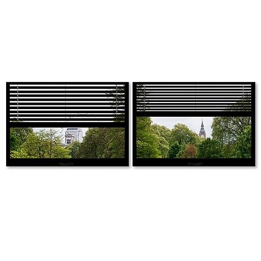 "Trademark Fine Art ''Window View London Park 3'' by Philippe Hugonnard 27"" x 33"" Multi Panel Art Set (PH0065-P2-SET)"