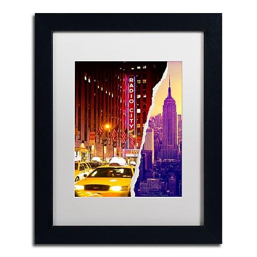 "Trademark Fine Art ''Manhattan Buildings'' by Philippe Hugonnard 11"" x 14"" White Matted Black Frame (PH0072-B1114MF)"
