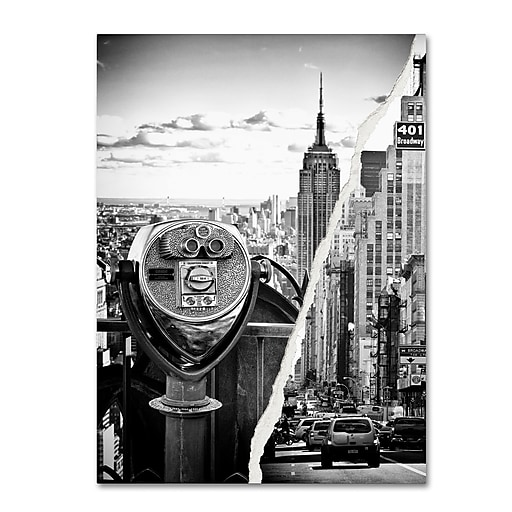 "Trademark Fine Art ''Looking to New York City'' by Philippe Hugonnard 14"" x 19"" Canvas Art (PH0073-C1419GG)"