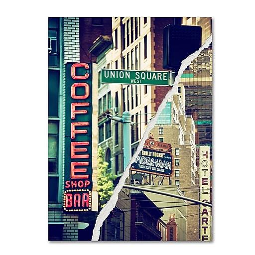 "Trademark Fine Art ''New York Atmosphere'' by Philippe Hugonnard 24"" x 32"" Canvas Art (PH0075-C2432GG)"