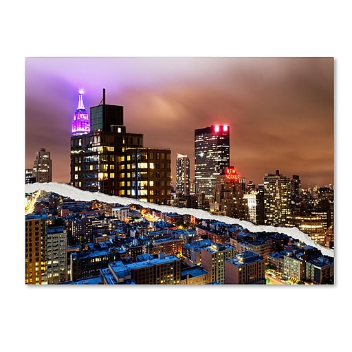 "Trademark Fine Art ''City That Never Sleeps'' by Philippe Hugonnard 14"" x 19"" Canvas Art (PH0078-C1419GG)"