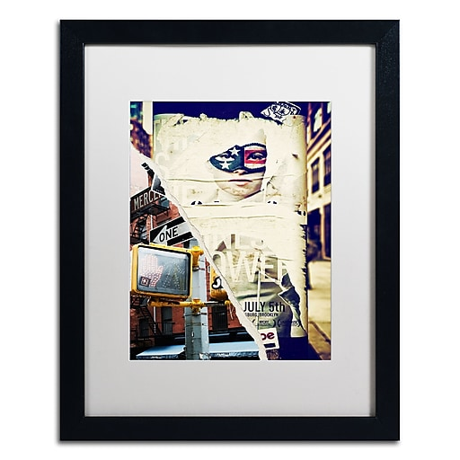 "Trademark Fine Art ''NY Street Scenes'' by Philippe Hugonnard 16"" x 20"" White Matted Black Frame (PH0079-B1620MF)"