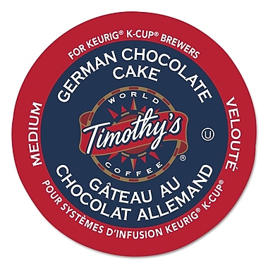 Timothy's World Coffee German Chocolate Cake Coffee K-Cup® Pods, 24/box