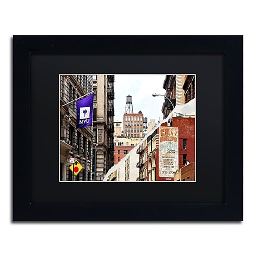 "Trademark Fine Art ''Midtown Manhattan'' by Philippe Hugonnard 11"" x 14"" Black Matted Black Frame (PH0083-B1114BMF)"