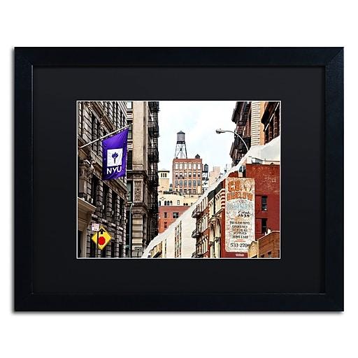 "Trademark Fine Art ''Midtown Manhattan'' by Philippe Hugonnard 16"" x 20"" Black Matted Black Frame (PH0083-B1620BMF)"
