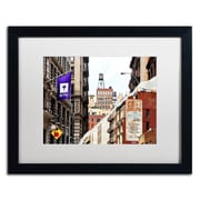 "Trademark Fine Art ''Midtown Manhattan'' by Philippe Hugonnard 16"" x 20"" White Matted Black Frame (PH0083-B1620MF)"