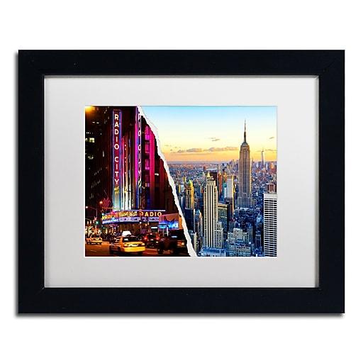 "Trademark Fine Art ''NYC Music Hall'' by Philippe Hugonnard 11"" x 14"" White Matted Black Frame (PH0084-B1114MF)"