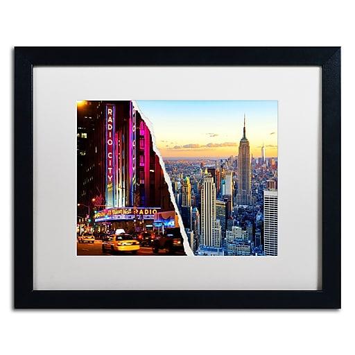 "Trademark Fine Art ''NYC Music Hall'' by Philippe Hugonnard 16"" x 20"" White Matted Black Frame (PH0084-B1620MF)"