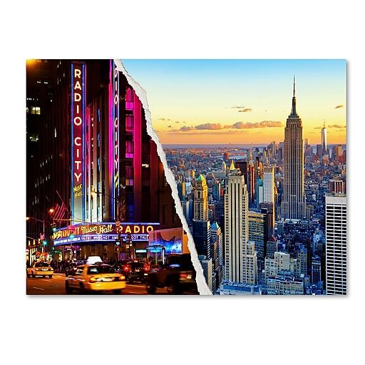 "Trademark Fine Art ''NYC Music Hall'' by Philippe Hugonnard 14"" x 19"" Canvas Art (PH0084-C1419GG)"