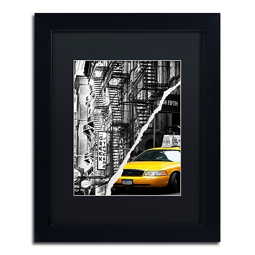 "Trademark Fine Art ''Live in New York'' by Philippe Hugonnard 11"" x 14"" Black Matted Black Frame (PH0086-B1114BMF)"