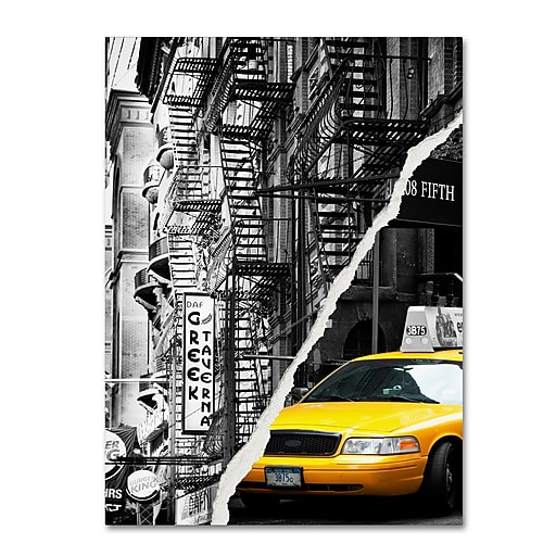 "Trademark Fine Art ''Live in New York'' by Philippe Hugonnard 24"" x 32"" Canvas Art (PH0086-C2432GG)"