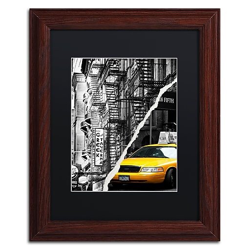 "Trademark Fine Art ''Live in New York'' by Philippe Hugonnard 11"" x 14"" Black Matted Wood Frame (PH0086-W1114BMF)"