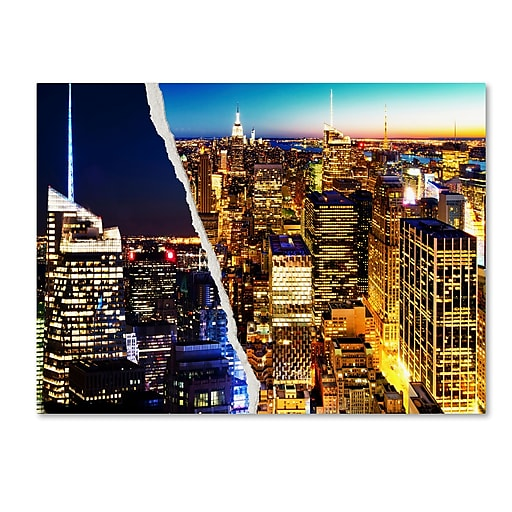 "Trademark Fine Art ''City Lights'' by Philippe Hugonnard 24"" x 32"" Canvas Art (PH0087-C2432GG)"