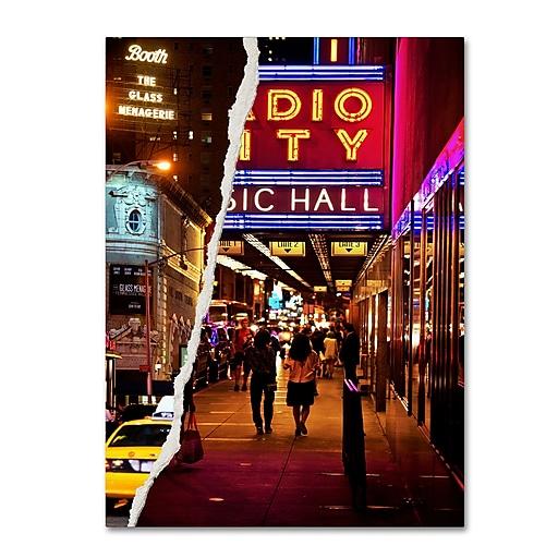 "Trademark Fine Art ''A Theater Tonight'' by Philippe Hugonnard 35"" x 47"" Canvas Art (PH0088-C3547GG)"