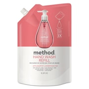 Method Gel Hand Wash Refill, 34 Oz, Pink Grapefruit Scent, Plastic Pouch, 6/carton