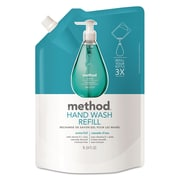 Method Gel Hand Wash Refill, 34 Oz Pouch, Waterfall, 6/carton
