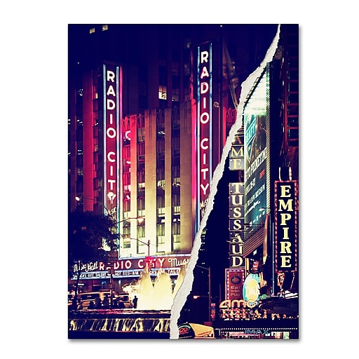 "Trademark Fine Art ''Times Square Theater District'' by Philippe Hugonnard 24"" x 32"" Canvas Art (PH0089-C2432GG)"