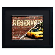 """Trademark Fine Art ''Taxi Booked'' by Philippe Hugonnard 16"""" x 20"""" Black Matted Black Frame (PH0090-B1620BMF)"""