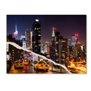 """Trademark Fine Art ''Life Taxis in New York'' by Philippe Hugonnard 14"""" x 19"""" Canvas Art (PH0091-C1419GG)"""