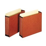 """Cardinal Globe-Weis® Letter File Pocket With 3 1/2"""" Expansion, Redrope, 10/Box"""