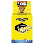 d-CON Refillable Bait Station & Refills, 3 X 3 X 1 1/4, 0.7oz, 2 Refills/box, 8/crtn