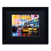 "Trademark Fine Art ''Means of Transport'' by Philippe Hugonnard 11"" x 14"" Black Matted Black Frame (PH0094-B1114BMF)"