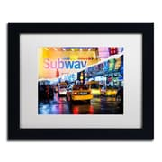 "Trademark Fine Art ''Means of Transport'' by Philippe Hugonnard 11"" x 14"" White Matted Black Frame (PH0094-B1114MF)"