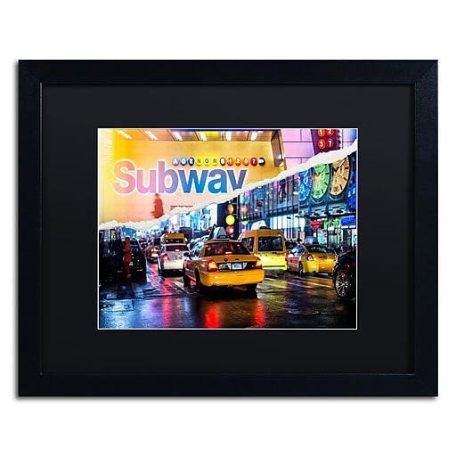 "Trademark Fine Art ''Means of Transport'' by Philippe Hugonnard 16"" x 20"" Black Matted Black Frame (PH0094-B1620BMF)"