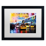 "Trademark Fine Art ''Means of Transport'' by Philippe Hugonnard 16"" x 20"" White Matted Black Frame (PH0094-B1620MF)"
