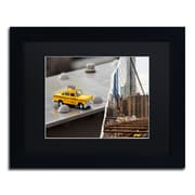 "Trademark Fine Art ''NYC Taxi'' by Philippe Hugonnard 11"" x 14"" Black Matted Black Frame (PH0095-B1114BMF)"