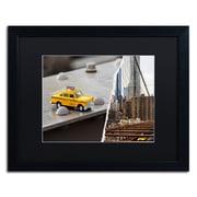 "Trademark Fine Art ''NYC Taxi'' by Philippe Hugonnard 16"" x 20"" Black Matted Black Frame (PH0095-B1620BMF)"