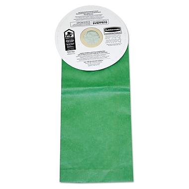 Rubbermaid Commercial Vacuum Bags For Rubbermaid Backpack Vacuum Cleaners, Paper, Green