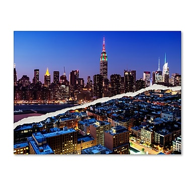 Trademark Fine Art ''Downtown City at Night'' by Philippe Hugonnard 35