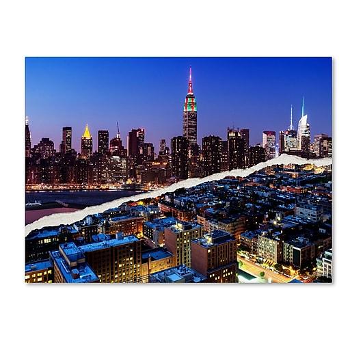 "Trademark Fine Art ''Downtown City at Night'' by Philippe Hugonnard 35"" x 47"" Canvas Art (PH0096-C3547GG)"