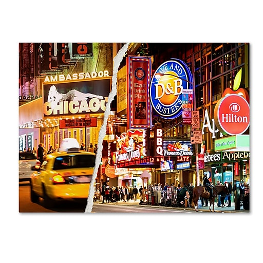 "Trademark Fine Art ''Times Square Colours'' by Philippe Hugonnard 24"" x 32"" Canvas Art (PH0097-C2432GG)"
