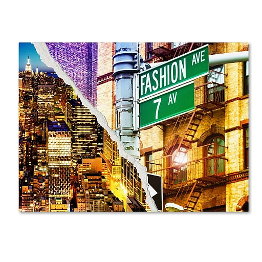 "Trademark Fine Art ''Fashion Avenue'' by Philippe Hugonnard 18"" x 24"" Canvas Art (PH0098-C1824GG)"