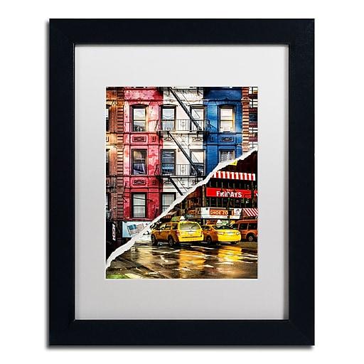 "Trademark Fine Art ''American Colors'' by Philippe Hugonnard 11"" x 14"" White Matted Black Frame (PH0101-B1114MF)"